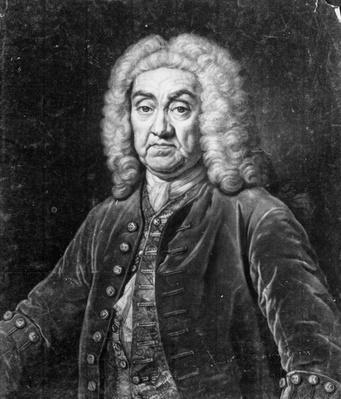John James Heidegger, engraved by John Faber, 1749