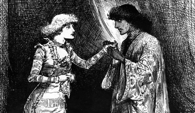 Miss Ellen Terry as Desdemona and Mr. Irving as Othello