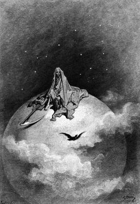 Illustration from Edgar Allan Poe's 'The Raven', 1882