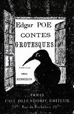 Cover to 'Contes Grotesques' by Edgar Allan Poe, published in 1882