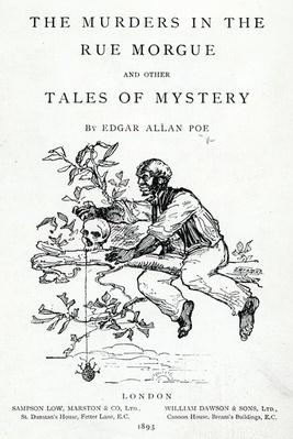Frontispiece to 'The Murders in the Rue Morgue and other Tales of Mystery' by Edgar Allan Poe, published in 1893