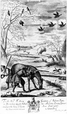 Stalking, from 'The Gentleman's Recreation' published by Richard Blome, 1686