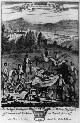 The death of the hare with the fleet hounds, from 'The Gentleman's Recreation' published by Richard Blome, 1686