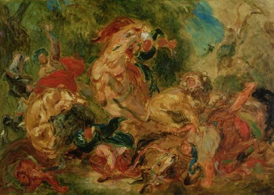 Study for The Lion Hunt, 1854