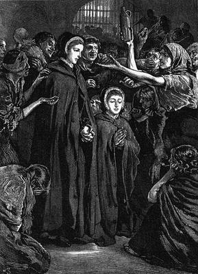 Elizabeth Fry and Anna Buxton visiting Newgate Prison