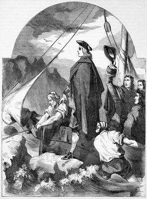Landing of the Chevalier de St. George in Scotland, illustration from 'John Cassell's Illustrated History of England', published c.1858