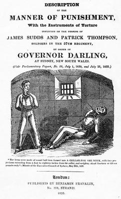 Frontispiece to 'The Torture of James Sudds and Patrick Thompson', published 1833