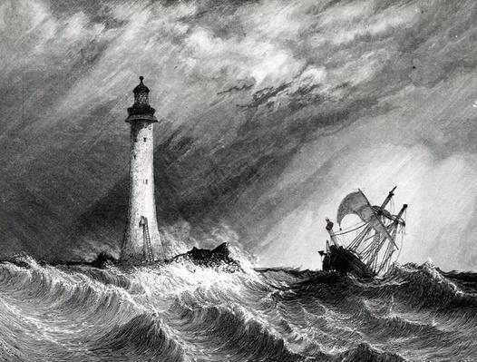 Eddystone Lighthouse, print made by W.B. Cooke, 1836