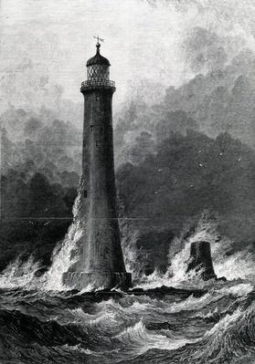 The Proposed New Eddystone Lighthouse, illustration from 'The Illustrated London News', 1879