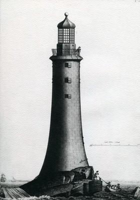 South Elevation of the Stone Lighthouse completed upon the Edystone in 1759, 1763