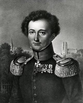 Carl von Clausewitz, print made by F. Michelis, 1830