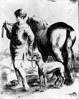 Boy with a Horse and Two Dogs, c.1597-1610