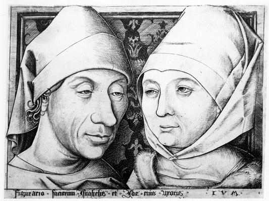 Portrait of Israhel van Meckenem and his wife Ida, c.1490