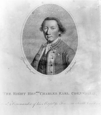 The Right Hon. Charles Earl Cornwallis, print made by C. Knight