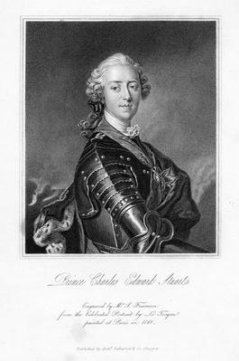 Prince Charles Edward Stuart, print made by S. Freeman, c.1849