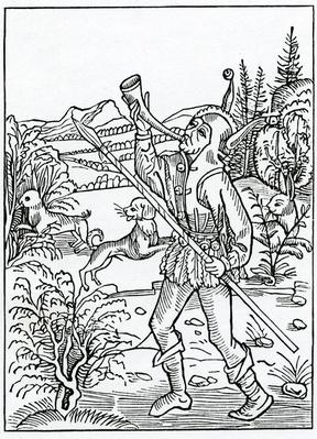 Of hym that togyder wyll serve two maysters, illustration from Alexander Barclay's English translation of 'The Ship of Fools', from an edition published in 1874