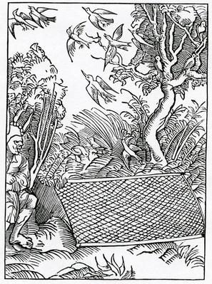 Of ouer open takynges of counsell, illustration from Alexander Barclay's English translation of 'The Ship of Fools', from an edition published in 1874