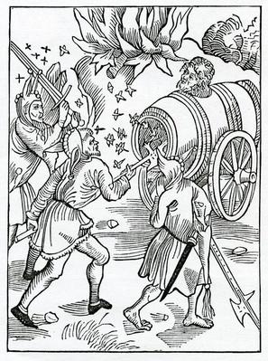 Of enuyous folys, illustration from Alexander Barclay's English translation of 'The Ship of Fools', from an edition published in 1874