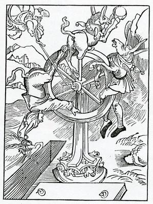 Of the ende of worldly honour and power and of folys that trust therein, illustration from Alexander Barclay's English translation of 'The Ship of Fools', from an edition published in 1874