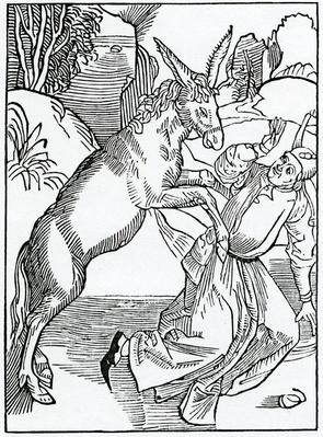 Of folys oppressyd with theyr owne foly, illustration from Alexander Barclay's English translation of 'The Ship of Fools', from an edition published in 1874
