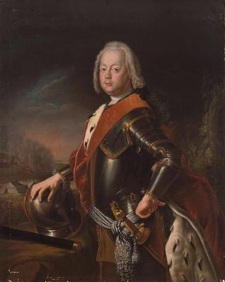 Portrait of Christian August, Prince of Anhalt-Zerbst, 1725