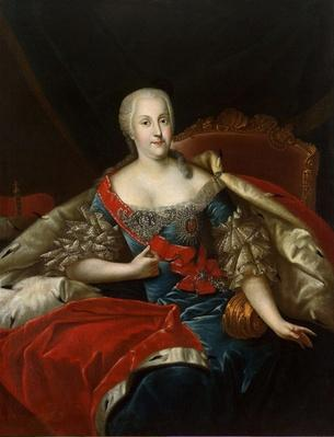 Portrait of Johanna-Elizabeth, Electress of Anhalt-Zerbst, c.1746