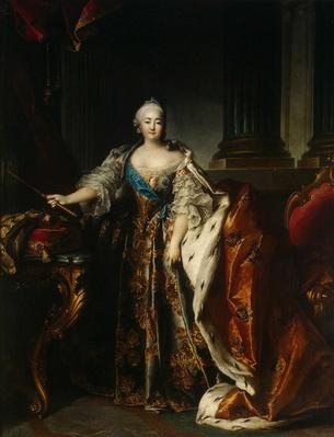 Portrait of Empress Elizabeth, 1758