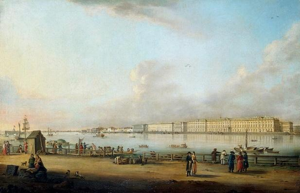 View of the Winter Palace from Vasilyevsky Island, 1796