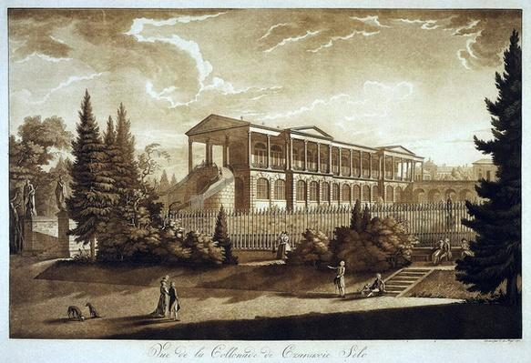 View of the Cameron Gallery in Tsarskoe Selo, 1793