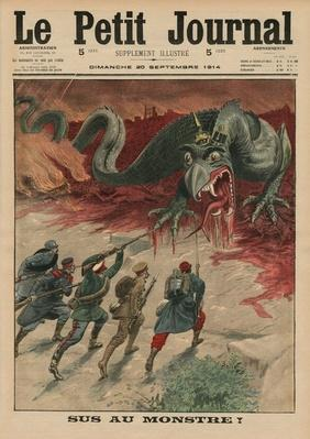 Death to the monster, front cover illustration from 'Le Petit Journal', supplement illustre, 20th September 1914