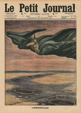 Espionage, front cover illustration from 'Le Petit Journal', supplement illustre, 22nd February 1914
