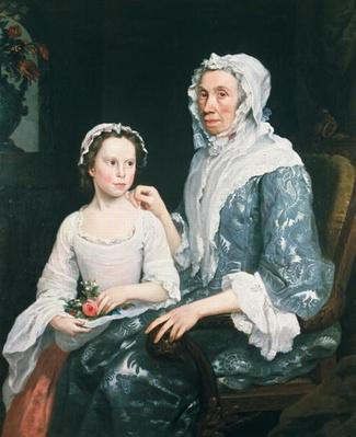 Portrait of an Elderly Lady and a Young Girl