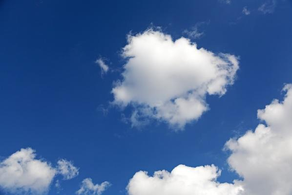 Cumulus clouds in blue sky | Weather