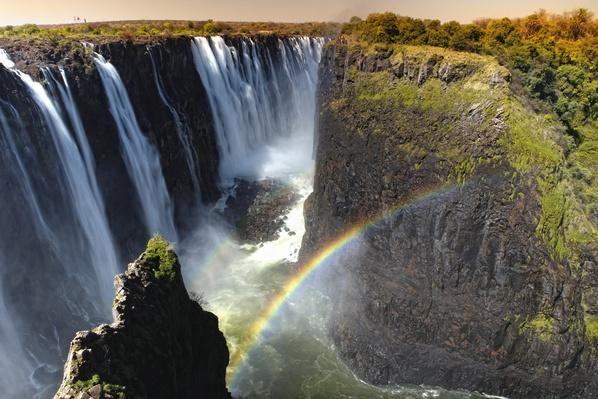 View of Victoria Falls on the Zambesi Ri | Wonders of the World