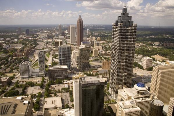 The downtown Atlanta skyline, looking towards the north | Cityscapes | Geography 14.1