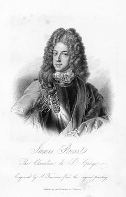 James Stuart, the Chevalier de S. George, print made by S. Freeman, c.1845