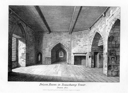 Prison Room in Beauchamp Tower, 1830