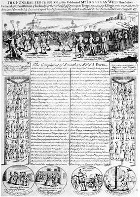 The Funeral Procession of the Celebrated Mr Jonathan Wild, Thief-taker, c.1725