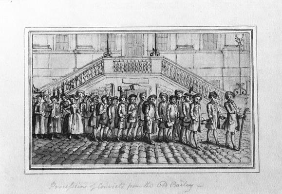 Procession of Convicts from the Old Bailey, c.1750-1800
