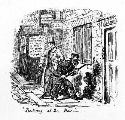 'Practising at the Bar', 1828