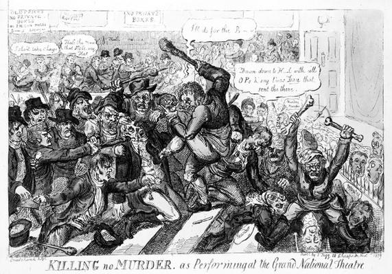 Killing no Murder, as performing at the Grand National Theatre, 1809
