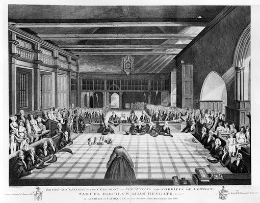 Representation of the Ceremony of Presenting the Sheriffs of London