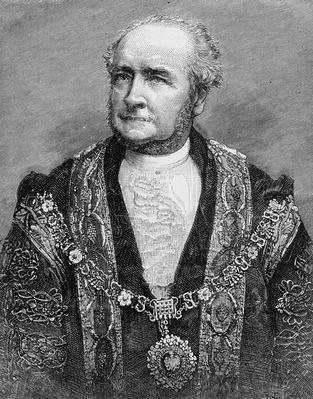 The Right Hon. Alderman G. S. Nottage, the new Lord Mayor of London, illustration from 'The Illustrated London News', 1884
