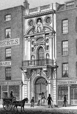 Mercers' Hall, Cheapside, print made by M. Barrenger, c.1829-31