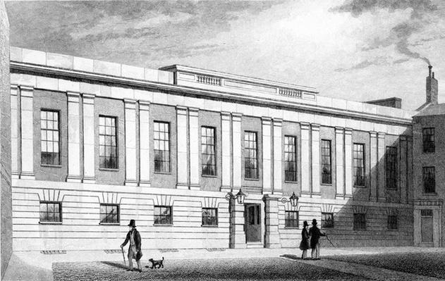 Grocers' Hall, Poultry, engraved by W. Radclyffe c.1830