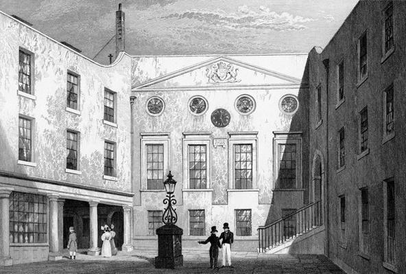 Apothecaries' Hall, Pilgrim St., Blackfriars, engraved by J. Hinchliff, 1831
