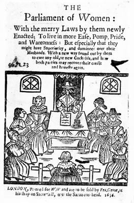 Title Page for 'The Parliament of Women', 1656