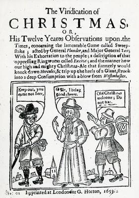 The Vindication of Christmas, 1653