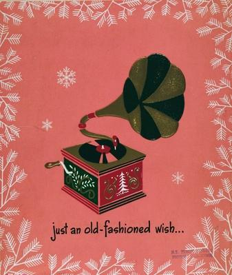 Just An Old Fashioned Wish, Christmas card