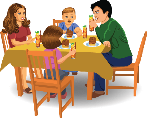 free clipart family meal - photo #33